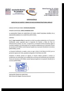 certificado inspector de puentes jorge lavandera