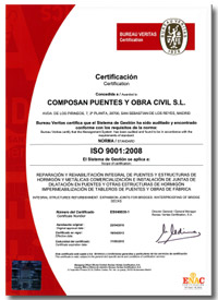 Iso9001 Composan Puentes