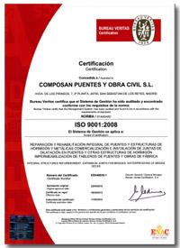 ISO 9001 COMPOSANPUENTES